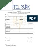 travel agency bill format