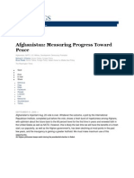 Afghanistan Measuring Progress Toward Peace