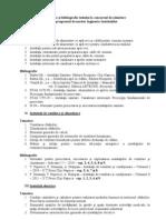 2012 Tematica Bibliografia Admitere Master