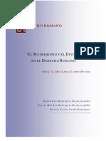 Matrimonio Romano Requisitos : Institucion del matrimonio romano