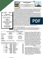 St. Joseph's July 15, 2012 Bulletin