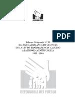 Informe Defensorial 96. Acceso a la información pública