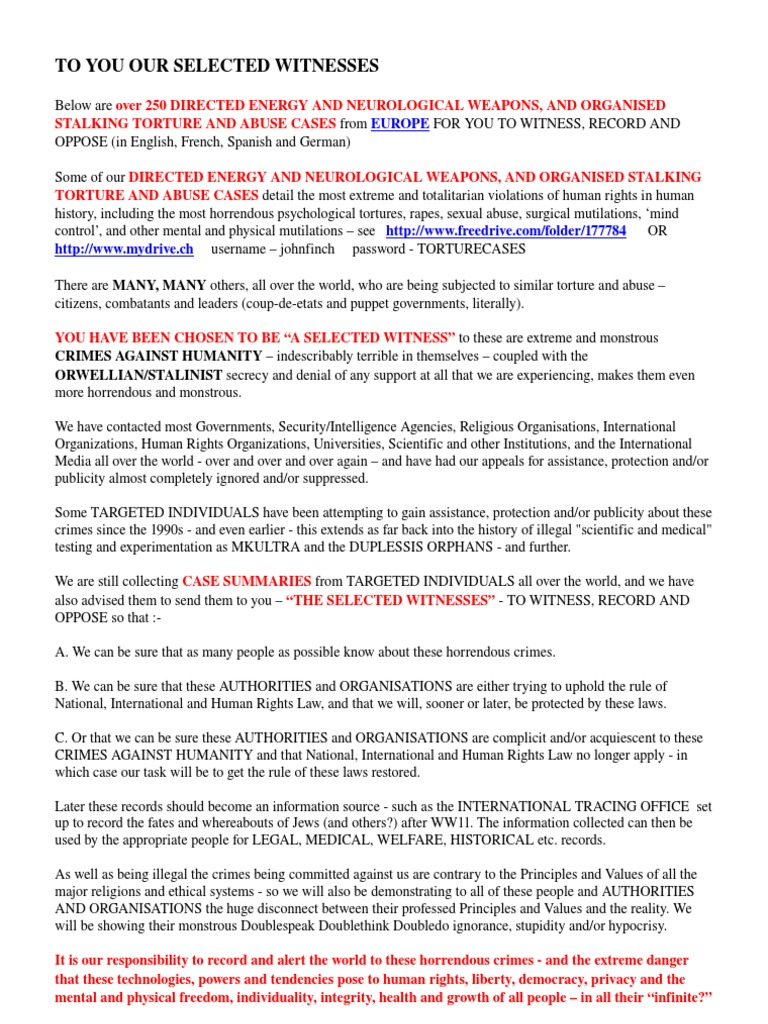 Staatsterror - 250CasesTortureFromEurope | Stalking | Harassment