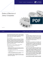 Duties of Directors of Jersey Companies