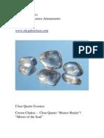 -Clear Quartz Gemstone Essence Ole
