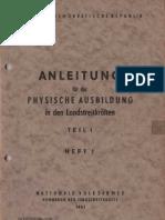 Anleitung für die physische Ausbildung in den Landstreitkräften Teil 1 - Heft 1