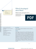 What is Sociological About Music