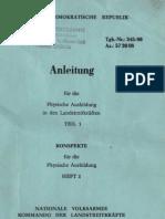 Anleitung für die physische Ausbildung in den Landstreitkräften Teil 1 - Heft 2 Konspekte