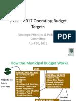 2012-06-12 - Presentation on Budget Targets