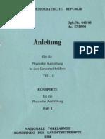 Anleitung für die physische Ausbildung in den Landstreitkräften Teil 1 - Heft 3