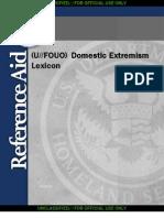 HSRA Domestic Extremism Lexicon