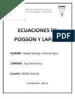 Ecuacion de Poisson y de Laplace