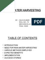 Rain-WAter Harvesting - Self Sufficiency Guide
