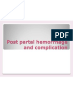 Post Partal Hemorrhage and Complication