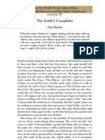 The Earths Complaint by Gai Eaton
