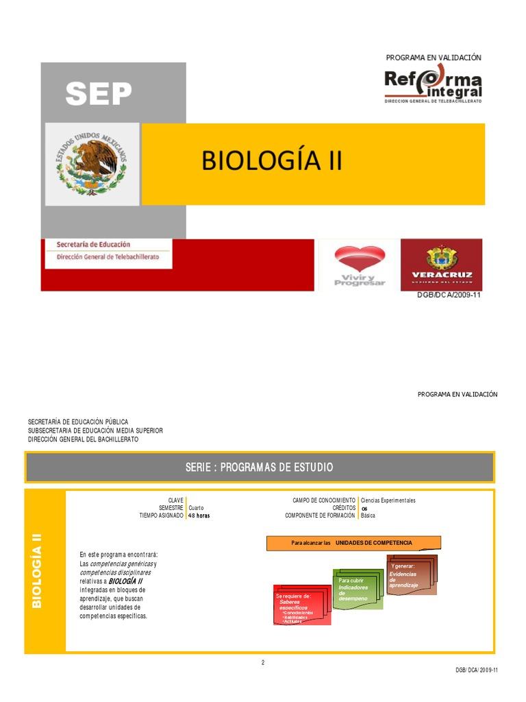 biologia ii dgb