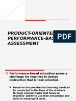 Product Oriented Performance Based Assessment
