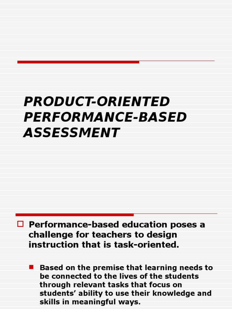 Product Oriented Performance Based Assessment | Rubric (Academic ...
