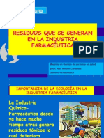 RESIDUOS QUE SE GENERAN EN LA INDUSTRIA FARMACÉUTICA