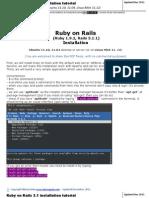 Installation Ruby on Rails for Ubuntu Linux Mint Www Mirceagoia Com