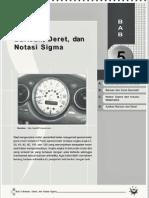 5baris, Deret Dan Notasi Sigma