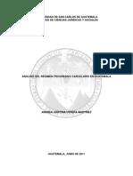 Analisis Del Regimen Progresivo Carcelario en Guatemala