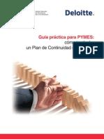 Guia Practica Para Pymes Como Implantar Un Plan de Continuidad de Negocio