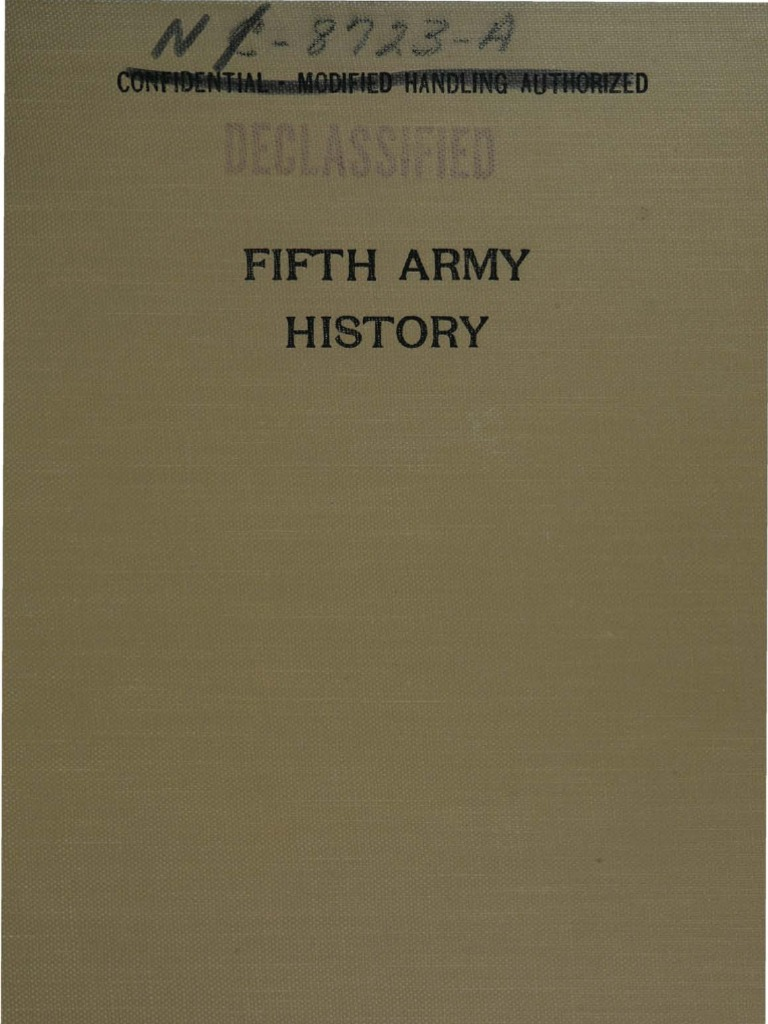 Fifth Army History - Part I - From Activation to the Fall ...