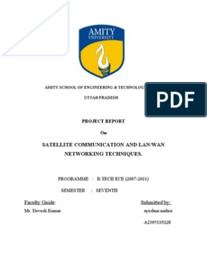 Project Report on Satellite Communication | Network Topology