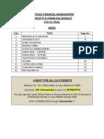 56679 39620 Sfm Notes Concepts Formula for CA Final