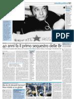 40 anni fa il primo sequestro delle BR