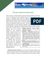 Four Steps to Tabular Presentation of Data