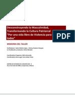 Taller de Formación para Agresores de la Asociación de ACHV, Nicaragua