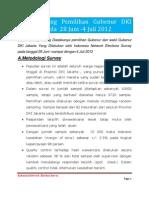Survey Jelang Pemilihan Gubenur DKI Diadakan Pada 28 Juni