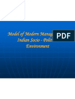 Model of Modern Management in Indian Socio