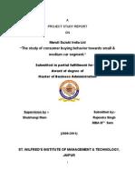 Maruti m.ba Certificate