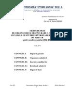 Metodologie admitere 2012