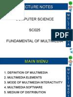 5.0 Fundamental of Multimedia