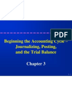 Accounting Cycle to Trial Balance