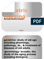 Geriatric Nursing in Ppt