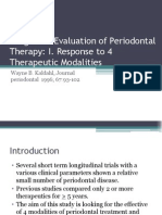 Long-Term Evaluation of Periodontal Therapy