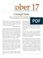 Concept Note United Nations International Day for Eradication of Poverty 2012