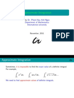 2012 Approximate Integration