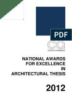 niasa thesis awards 2012