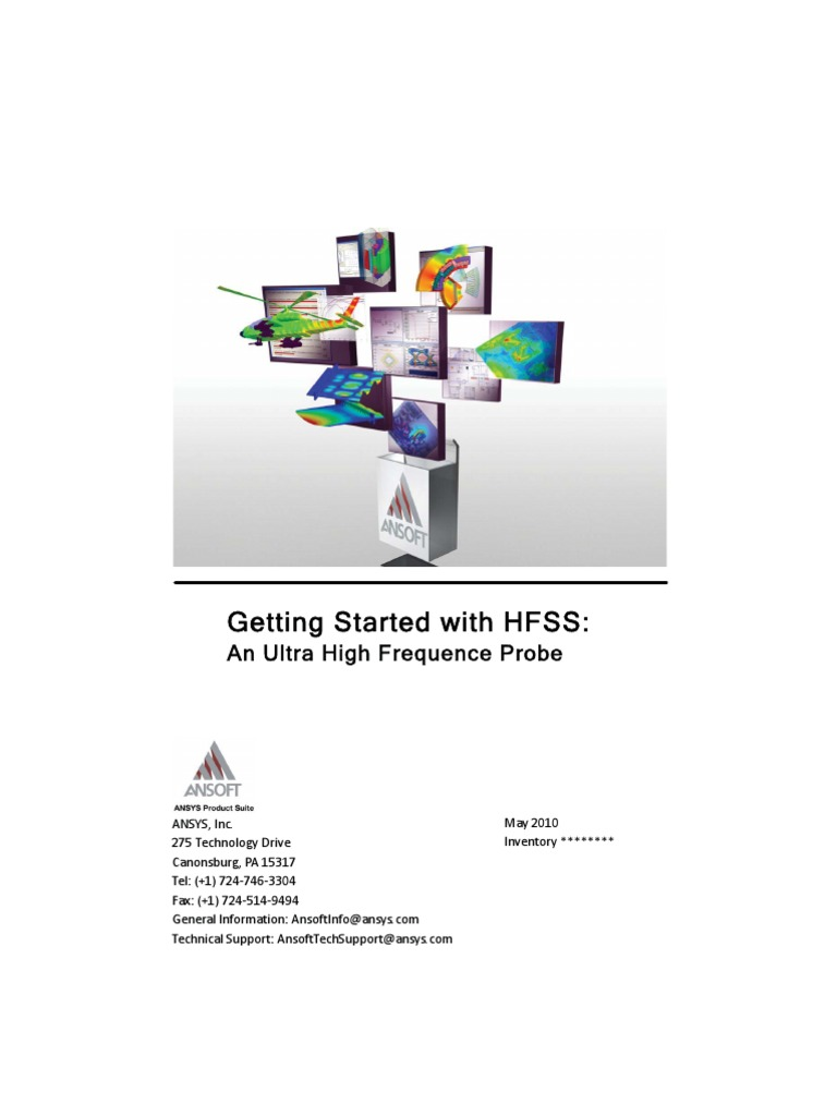 Hfss Uhf Probe | Computer Keyboard | Coaxial Cable