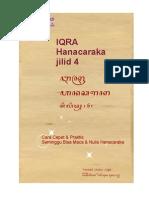 Buku Iqra Hanacaraka Jilid 4