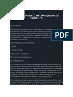 MANTENIMIENTO DE  UN EQUIPO DE CÓMPUTO 00