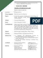 Lab Sheet Milling