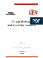 Bowman Sen and Bourdieu Understanding Inequality 2010