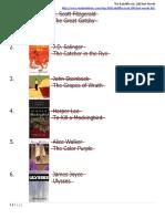 Radcliffe List of 100 Novels, Completed_09Jul19